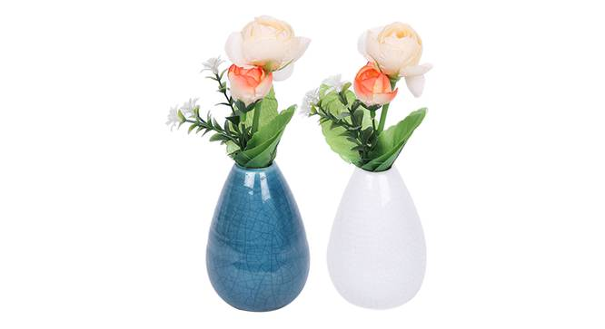 Adrian Vase - Set Of 2 (Blue) by Urban Ladder - Front View Design 1 - 328607