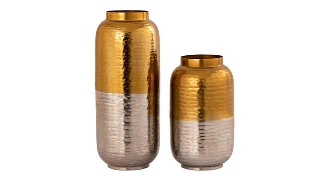 Izan Vase - Set Of 2 (Gold) by Urban Ladder - Front View Design 1 - 328625