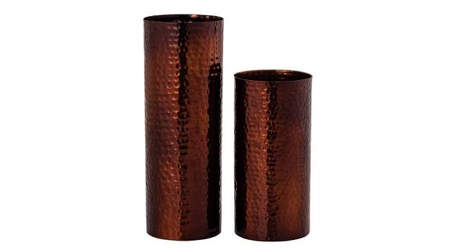 Marcos Vase - Set Of 2 (Copper) by Urban Ladder - Front View Design 1 - 328628