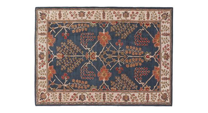 "Armaan Hand Tufted Carpet (Indigo, 244 x 305 cm  (96"" x 120"") Carpet Size) by Urban Ladder - Cross View Design 1 - 328675"