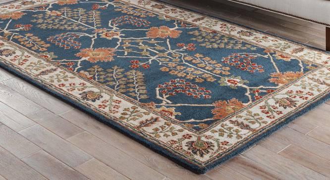 "Armaan Hand Tufted Carpet (122 x 183 cm  (48"" x 72"") Carpet Size, Indigo) by Urban Ladder - Front View Design 1 - 328678"