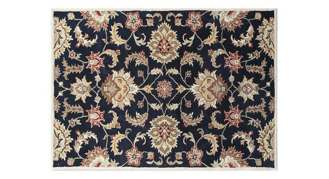 "Faiz Hand Tufted Carpet (122 x 183 cm  (48"" x 72"") Carpet Size, Ebony) by Urban Ladder - Cross View Design 1 - 328699"