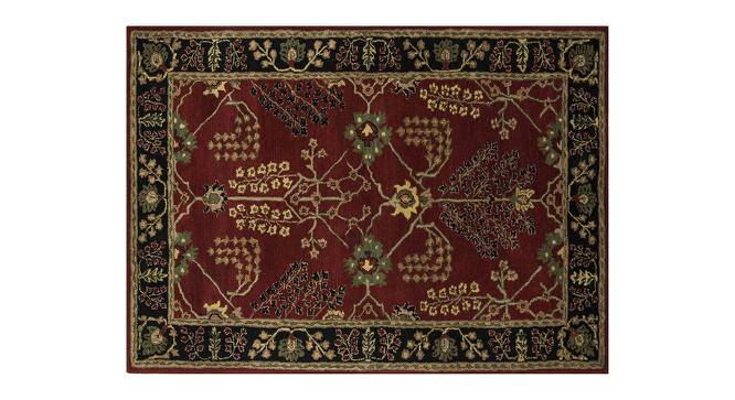 """Armaan Hand Tufted Carpet (Red, 107 x 168 cm  (42"""" x 66"""") Carpet Size) by Urban Ladder - Cross View Design 1 - 328711"""