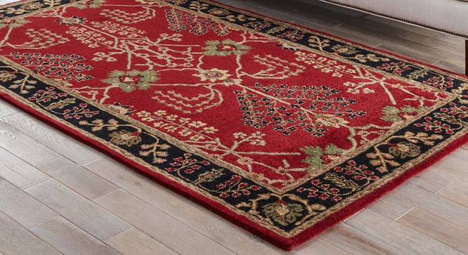 """Armaan Hand Tufted Carpet (Red, 122 x 183 cm  (48"""" x 72"""") Carpet Size) by Urban Ladder - Front View Design 1 - 328714"""