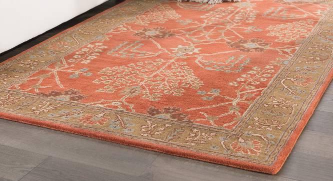 "Armaan Hand Tufted Carpet (107 x 168 cm  (42"" x 66"") Carpet Size, Orange Rust) by Urban Ladder - Front View Design 1 - 328730"