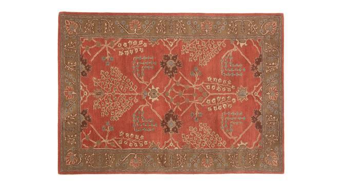 "Armaan Hand Tufted Carpet (107 x 168 cm  (42"" x 66"") Carpet Size, Orange Rust) by Urban Ladder - Cross View Design 1 - 328731"