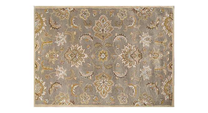 "Faiz Hand Tufted Carpet (244 x 305 cm  (96"" x 120"") Carpet Size, Soft Gold) by Urban Ladder - Cross View Design 1 - 328755"