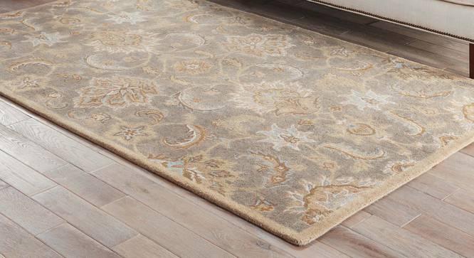 "Faiz Hand Tufted Carpet (Soft Gold, 79 x 305 cm (31"" x 120"") Carpet Size) by Urban Ladder - Front View Design 1 - 328766"