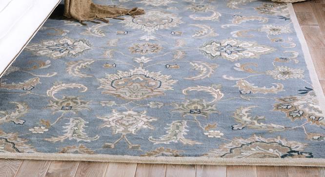 "Faiz Hand Tufted Carpet (244 x 305 cm  (96"" x 120"") Carpet Size, Skyline Blue) by Urban Ladder - Front View Design 1 - 328774"