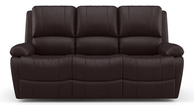 Lebowski Recliner (Three Seater, Dark Chocolate Leatherette) by Urban Ladder - Design 1 Top View - 328779