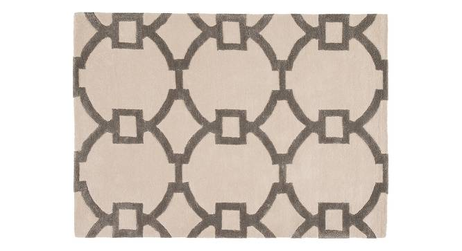 """Aabaad Hand Tufted Carpet (244 x 305 cm  (96"""" x 120"""") Carpet Size, Antique White) by Urban Ladder - Cross View Design 1 - 328793"""