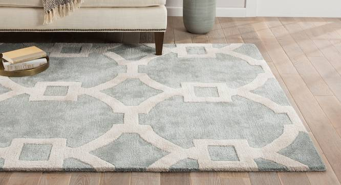 """Aabaad Hand Tufted Carpet (White, 122 x 183 cm  (48"""" x 72"""") Carpet Size) by Urban Ladder - Front View Design 1 - 328808"""