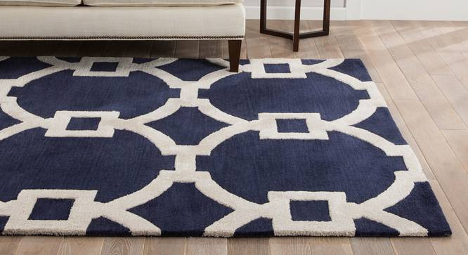 """Aabaad Hand Tufted Carpet (White, 107 x 168 cm  (42"""" x 66"""") Carpet Size) by Urban Ladder - Front View Design 1 - 328812"""