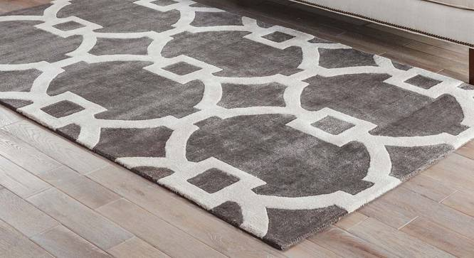 """Aabaad Hand Tufted Carpet (Licorice, 107 x 168 cm  (42"""" x 66"""") Carpet Size) by Urban Ladder - Front View Design 1 - 328816"""