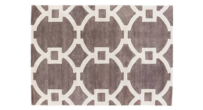 """Aabaad Hand Tufted Carpet (Licorice, 107 x 168 cm  (42"""" x 66"""") Carpet Size) by Urban Ladder - Cross View Design 1 - 328817"""