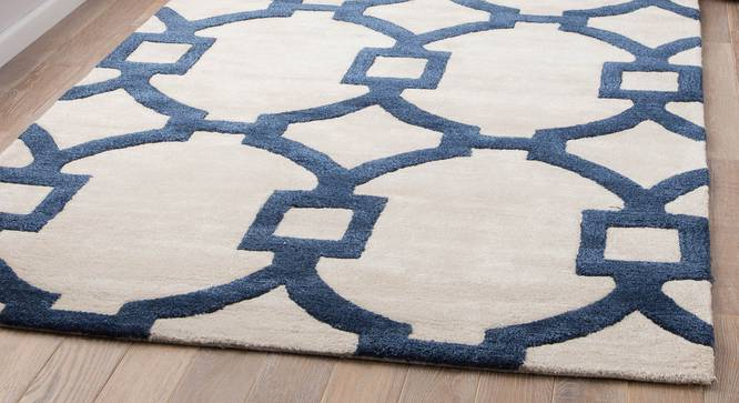 """Aabaad Hand Tufted Carpet (White, 107 x 168 cm  (42"""" x 66"""") Carpet Size) by Urban Ladder - Front View Design 1 - 328820"""