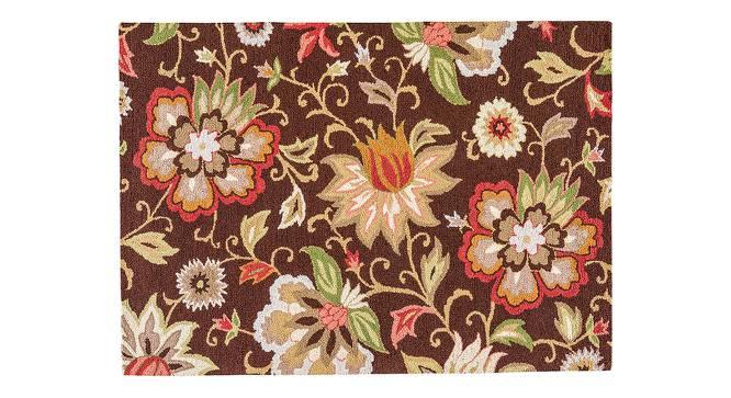 "Kawish Hand Tufted Carpet (152 x 244 cm  (60"" x 96"") Carpet Size, Dark Chocolate) by Urban Ladder - Cross View Design 1 - 328838"
