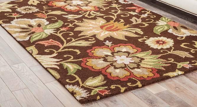 "Kawish Hand Tufted Carpet (Dark Chocolate, 244 x 305 cm  (96"" x 120"") Carpet Size) by Urban Ladder - Front View Design 1 - 328841"