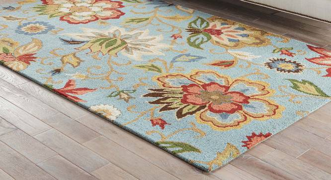 """Kawish Hand Tufted Carpet (244 x 305 cm  (96"""" x 120"""") Carpet Size, Light Turquoise) by Urban Ladder - Front View Design 1 - 328849"""