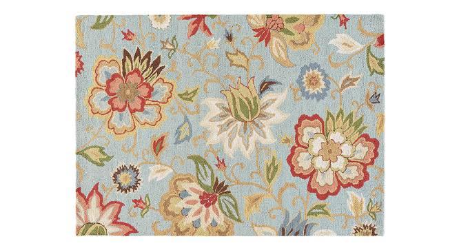 "Kawish Hand Tufted Carpet (244 x 305 cm  (96"" x 120"") Carpet Size, Light Turquoise) by Urban Ladder - Cross View Design 1 - 328850"