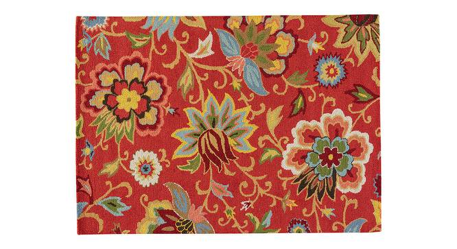 "Kawish Hand Tufted Carpet (152 x 244 cm  (60"" x 96"") Carpet Size, Velvet Red) by Urban Ladder - Cross View Design 1 - 328862"