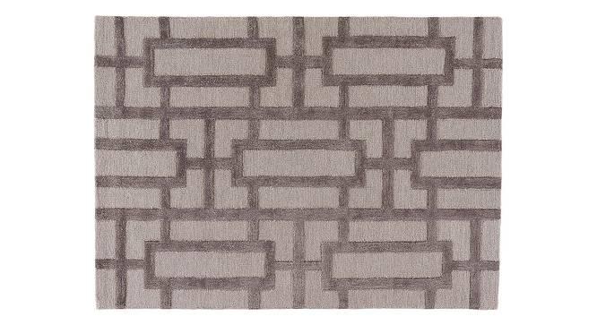 "Maqdoor Hand Tufted Carpet (107 x 168 cm  (42"" x 66"") Carpet Size, Ashwood) by Urban Ladder - Cross View Design 1 - 328882"