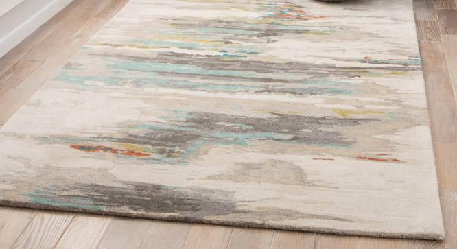 "Nagma Hand Tufted Carpet (122 x 183 cm  (48"" x 72"") Carpet Size, Antique White) by Urban Ladder - Front View Design 1 - 328932"