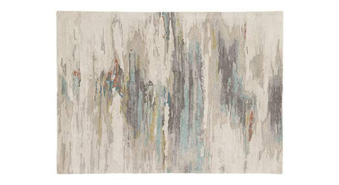 "Nagma Hand Tufted Carpet (152 x 244 cm  (60"" x 96"") Carpet Size, Antique White) by Urban Ladder - Cross View Design 1 - 328937"