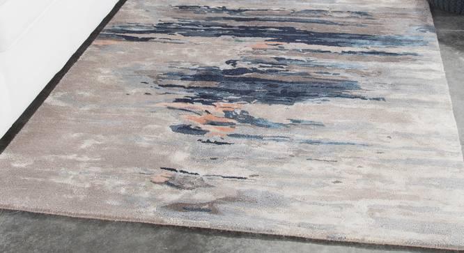 "Nagma Hand Tufted Carpet (152 x 244 cm  (60"" x 96"") Carpet Size, Ashwood) by Urban Ladder - Front View Design 1 - 328944"