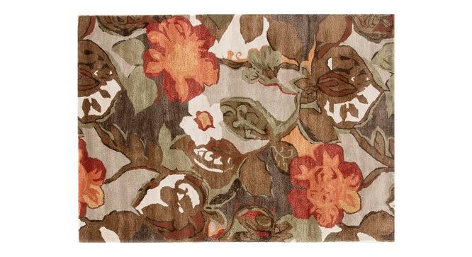 "Resham Hand Tufted Carpet (152 x 244 cm  (60"" x 96"") Carpet Size, White Ice) by Urban Ladder - Cross View Design 1 - 329025"
