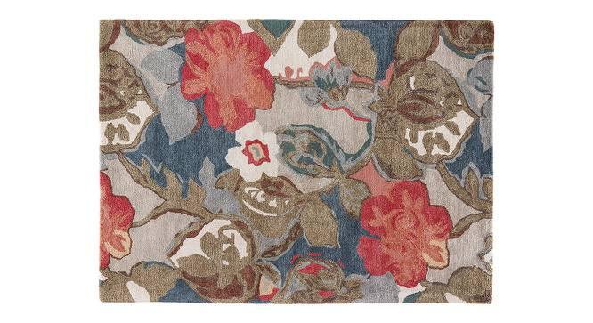 "Resham Hand Tufted Carpet (107 x 168 cm  (42"" x 66"") Carpet Size, Indigo) by Urban Ladder - Cross View Design 1 - 329045"