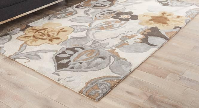 "Resham Hand Tufted Carpet (White, 244 x 305 cm  (96"" x 120"") Carpet Size) by Urban Ladder - Front View Design 1 - 329056"