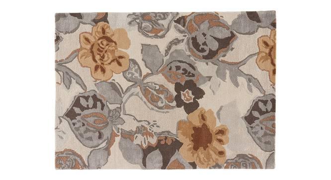 "Resham Hand Tufted Carpet (White, 122 x 183 cm  (48"" x 72"") Carpet Size) by Urban Ladder - Cross View Design 1 - 329061"