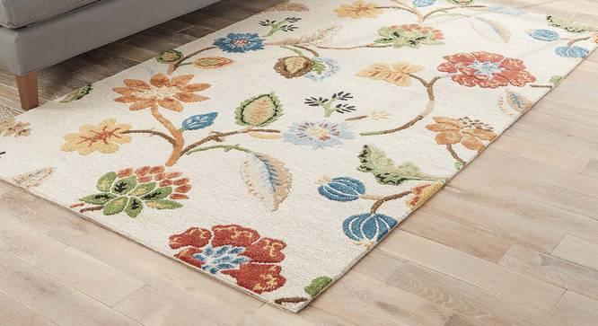 "Sabab Hand Tufted Carpet (122 x 183 cm  (48"" x 72"") Carpet Size, Antique White) by Urban Ladder - Front View Design 1 - 329072"