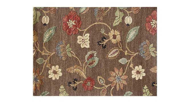 """Sabab Hand Tufted Carpet (107 x 168 cm  (42"""" x 66"""") Carpet Size, Cocoa Brown) by Urban Ladder - Cross View Design 1 - 329085"""