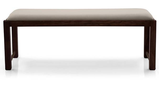 Oribi Upholstered Dining Bench (Mahogany Finish, Wheat Brown) by Urban Ladder - Design 1 Top View - 329106