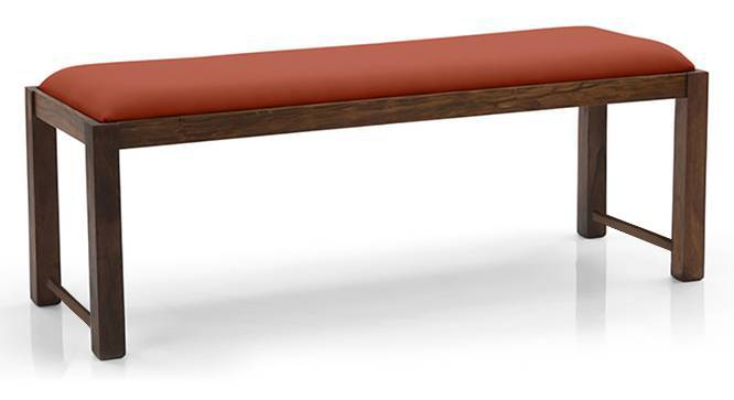 Oribi Upholstered Dining Bench (Teak Finish, Burnt Orange) by Urban Ladder - Design 1 Top View - 329115