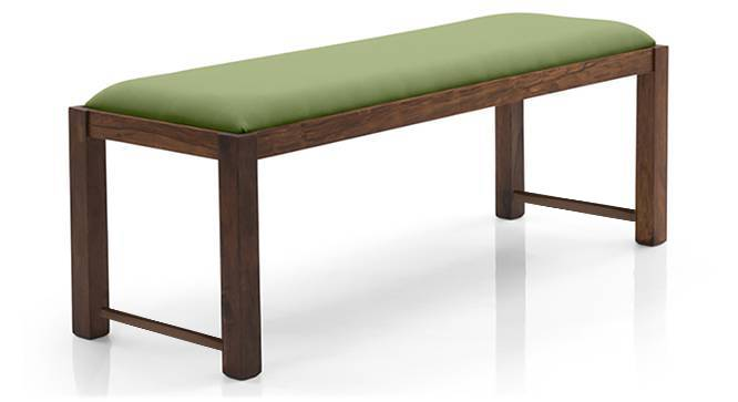 Oribi Upholstered Dining Bench (Teak Finish, Avocado Green) by Urban Ladder - Design 1 Top View - 329124