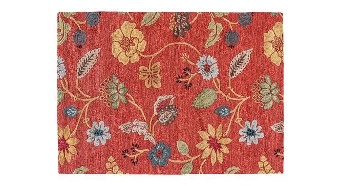 "Sabab Hand Tufted Carpet (122 x 183 cm  (48"" x 72"") Carpet Size, Navajo Red) by Urban Ladder - Cross View Design 1 - 329149"