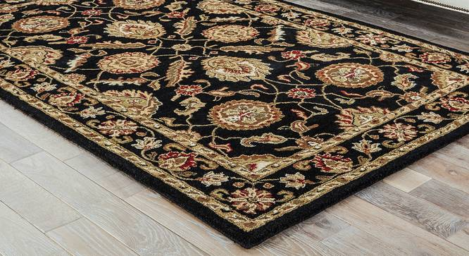 """Tehseen Hand Tufted Carpet (122 x 183 cm  (48"""" x 72"""") Carpet Size, Ebony) by Urban Ladder - Front View Design 1 - 329160"""