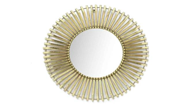 Levi Wall Mirror (Gold) by Urban Ladder - Front View Design 1 - 329207