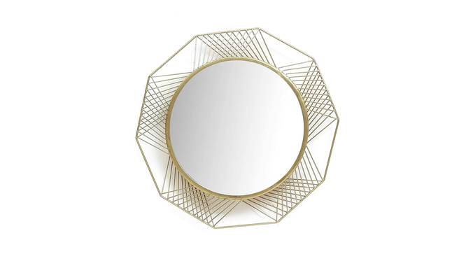 Eric Wall Mirror (Gold) by Urban Ladder - Front View Design 1 - 329212