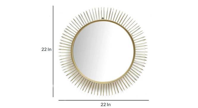 Holden Wall Mirror (Gold) by Urban Ladder - Cross View Design 1 - 329216