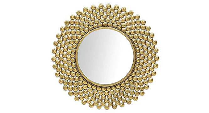 Cam Wall Mirror (Gold) by Urban Ladder - Front View Design 1 - 329221