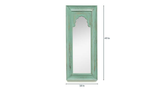 Avel Wall Mirror (Green) by Urban Ladder - Front View Design 1 - 329828