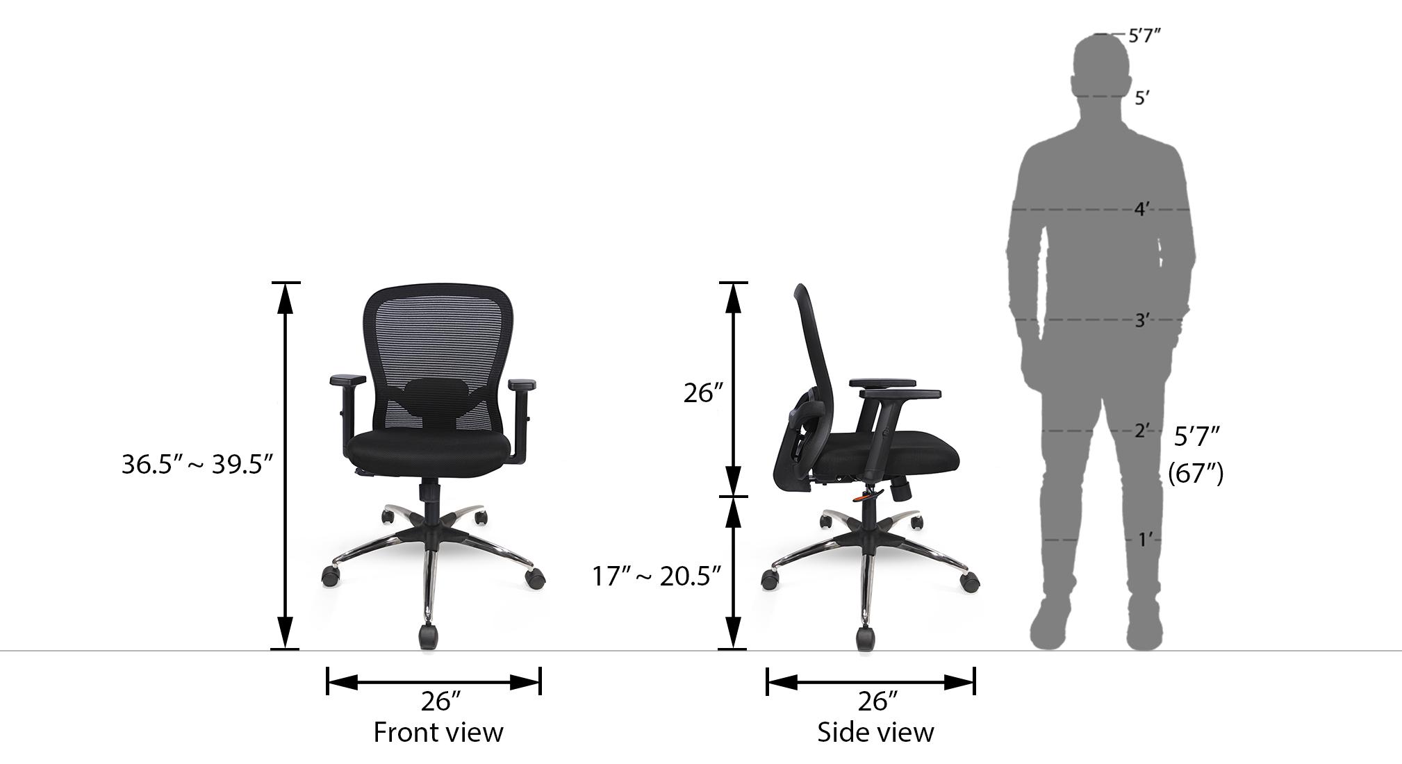 Cohen study chair black 6