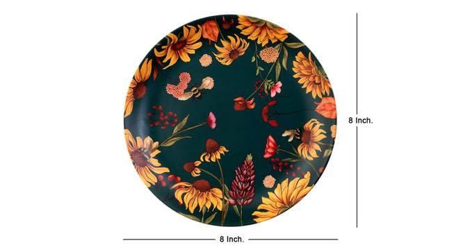Bliss Green Wall Plate by Urban Ladder - Cross View Design 1 - 330031