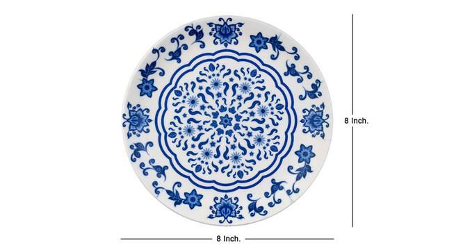 Blauw Wall Plate by Urban Ladder - Cross View Design 1 - 330040