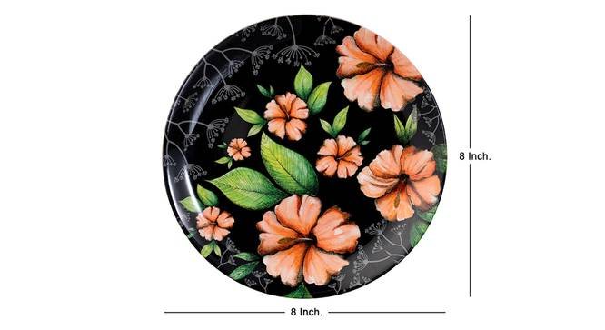 Hibiscus Wall Plate by Urban Ladder - Cross View Design 1 - 330052