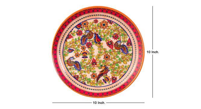 Kalamkari Wall Plate by Urban Ladder - Cross View Design 1 - 330073